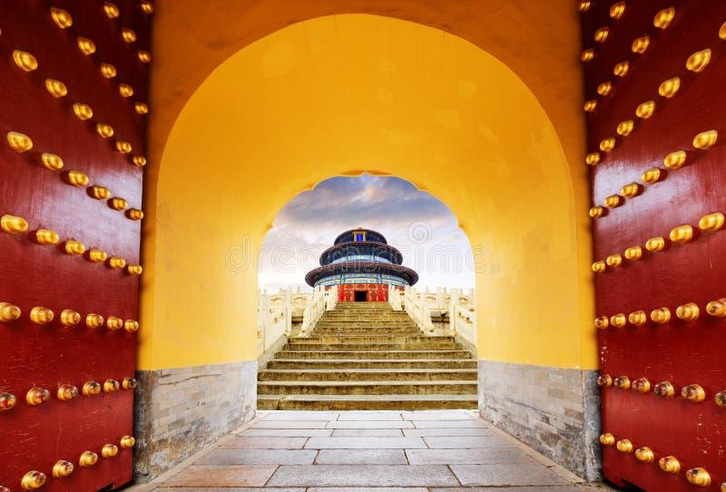 tempel f?r beijing porslinhimmel arkivfoton