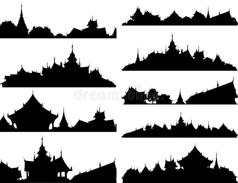 Tempel foregrounds lizenzfreie abbildung