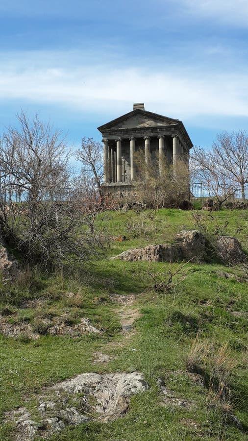 Tempel in Garni stockfotos