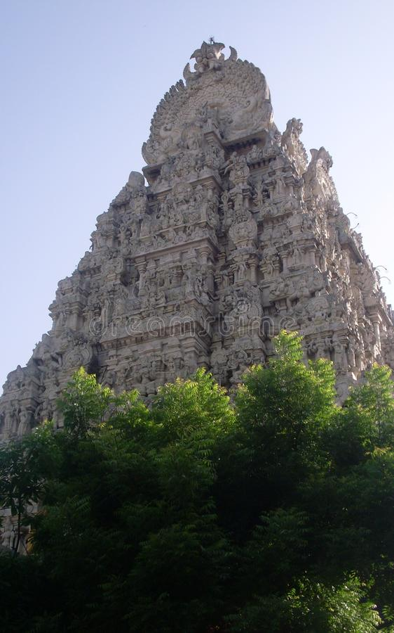 Tempel Gopuram stock foto