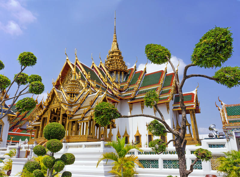 Tempel in Groot Paleis Emerald Buddha (Wat Phra Kaew), Bangkok royalty-vrije stock foto's
