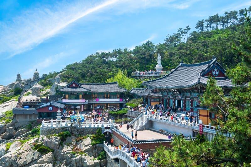 Tempel Haedong Yonggungsa stockbild
