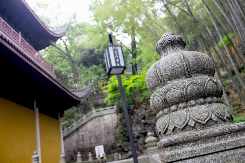 Tempel Hangzhou, Kina arkivbild