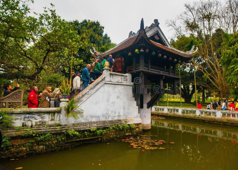 Tempel in Hanoi lizenzfreies stockfoto