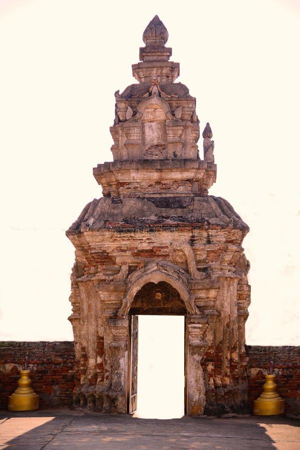 Tempel in het gebied van Sukhothai stock foto's