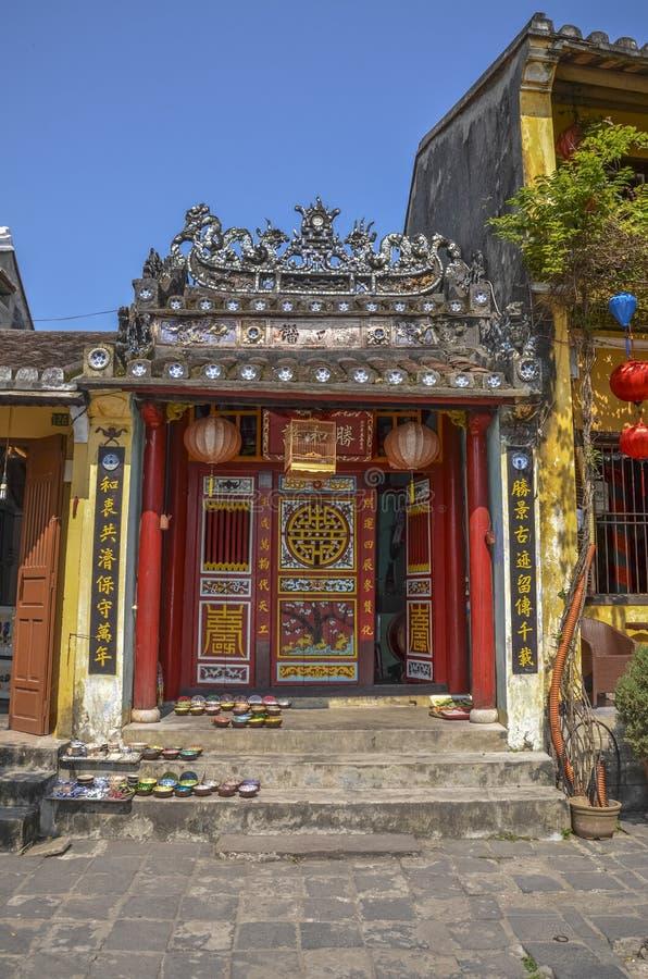 Tempel in Hoi An, Vietnam stockfoto