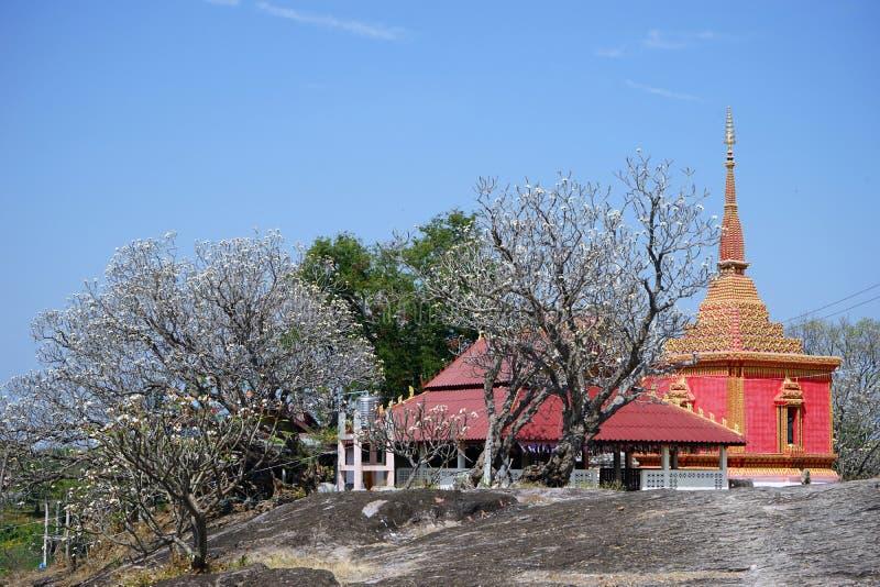 Tempel i buddistisk wat arkivfoto
