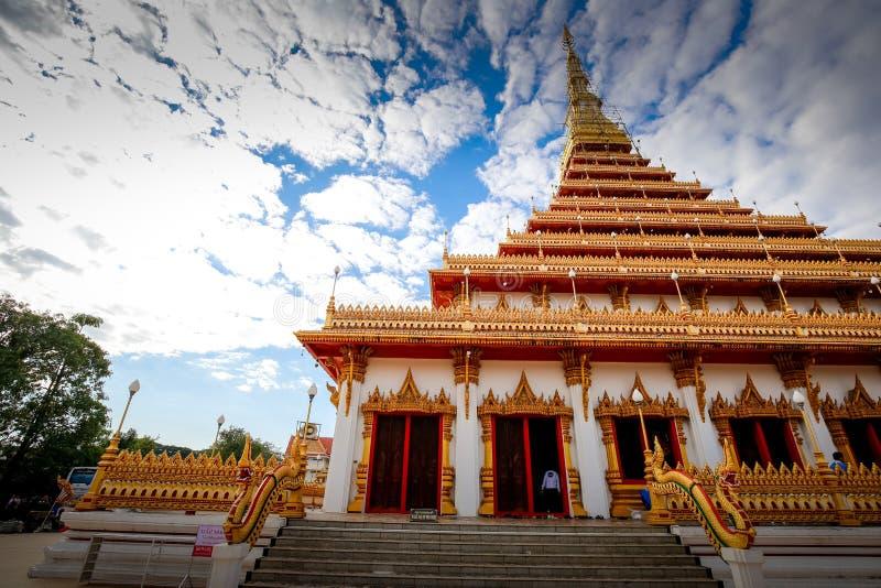 Tempel i det Khon Kean landskapet, Thailand royaltyfri foto