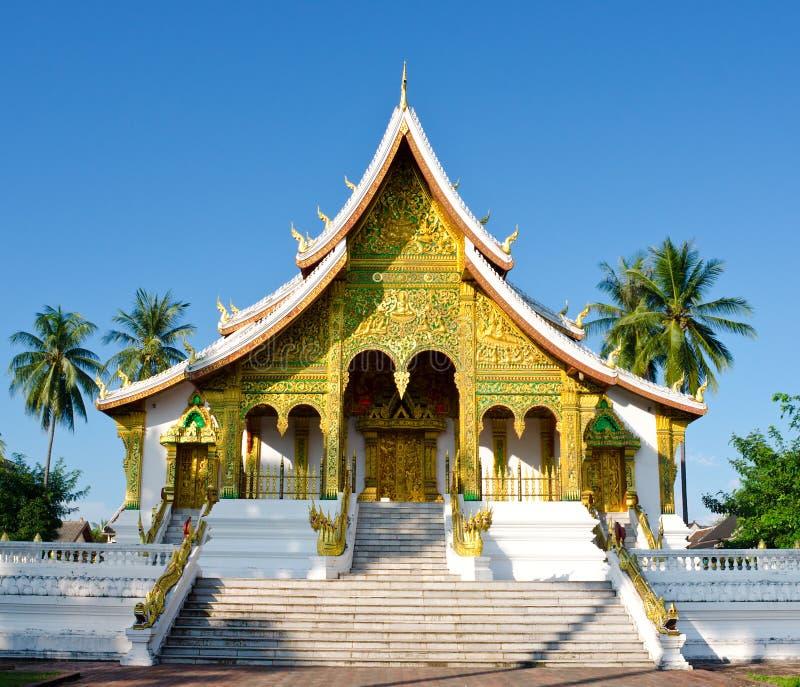 Tempel i Luang Prabang, Laos arkivfoto