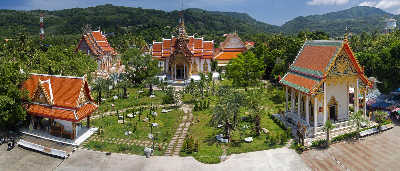 Tempel i Phuket Thailand royaltyfri bild