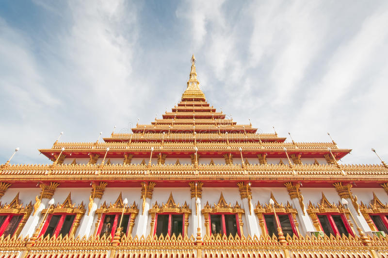 Tempel i Thailand royaltyfria bilder