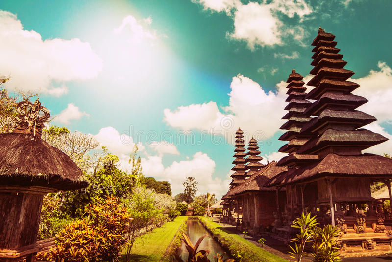 Tempel i Ubud, Bali royaltyfri bild