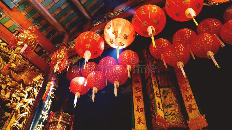 Tempel-Innenraum Bangkoks Thailand Chinatown lizenzfreies stockfoto