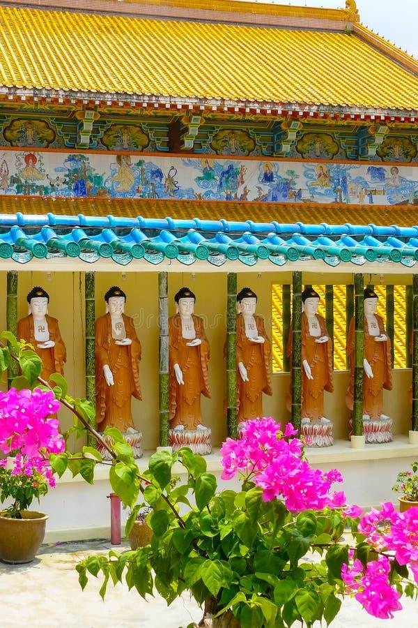 Tempel Kek Lok Si China in George Town Penang-Garten stockbilder