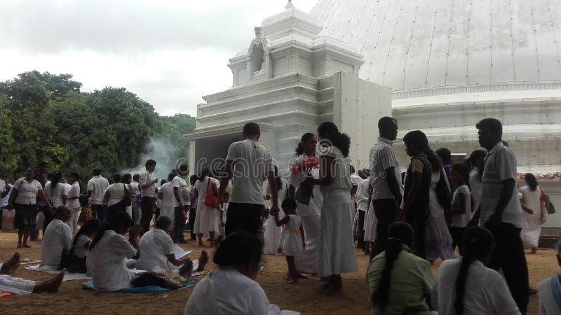 Tempel kelaniya Sri Lanka lizenzfreie stockbilder
