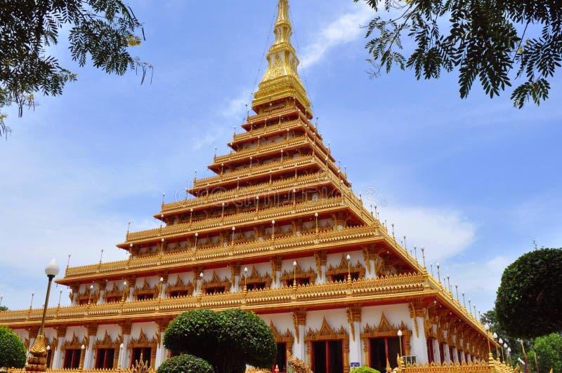 Tempel in Khon-Ken stockfotos