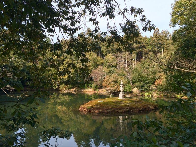 Tempel Kinkakuji in Kyoto, Japan royalty-vrije stock foto's