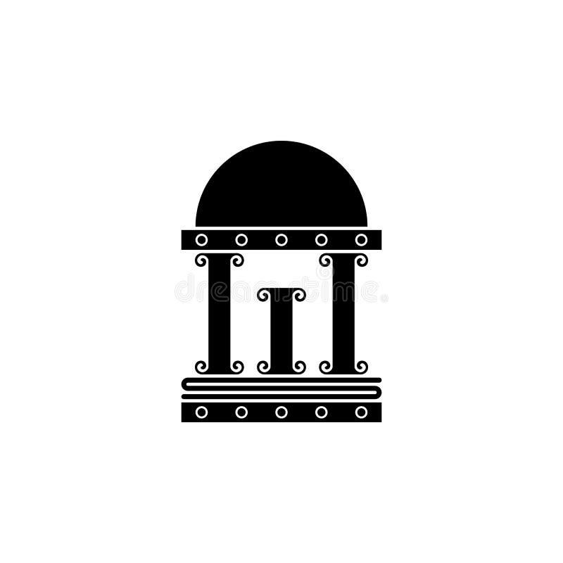 Tempel konturvektor vektor illustrationer