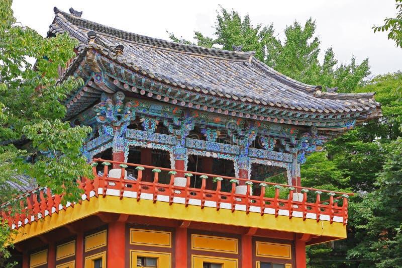 Tempel Koreas Busan Beomeosa stockbild