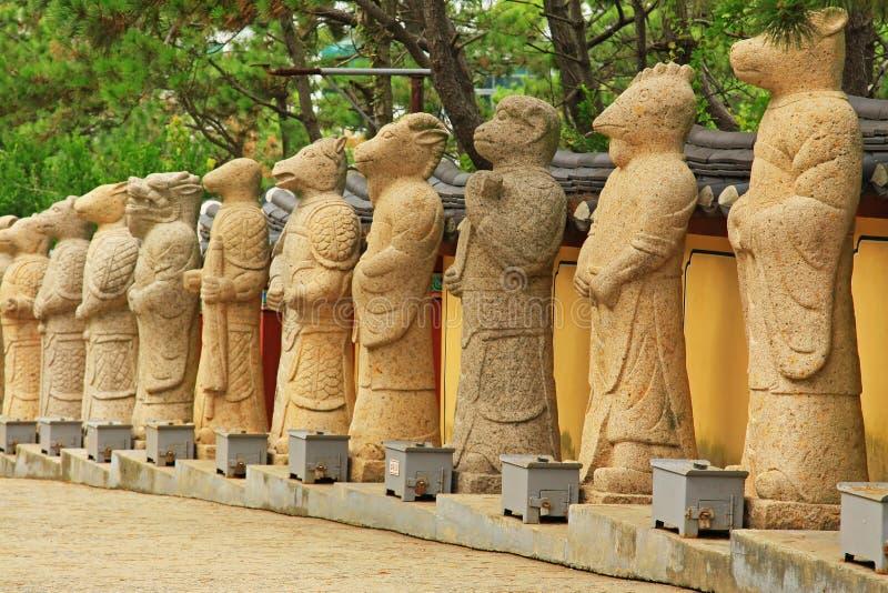 Tempel Koreas Busan Haedong Yonggungsa stockfotos