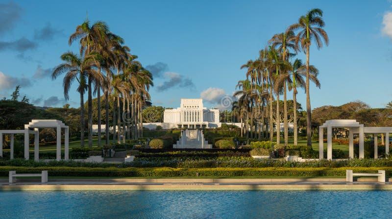 Tempel Laie Hawaii lizenzfreies stockfoto