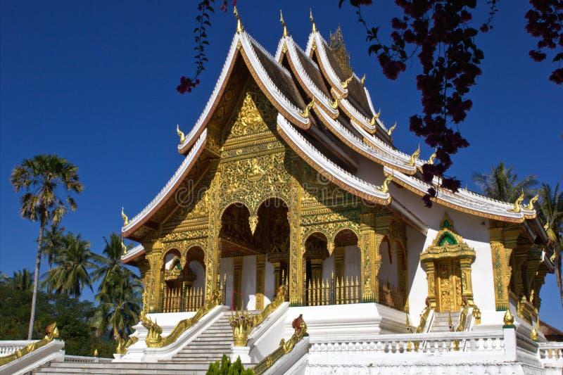 Tempel in Lao stock afbeeldingen