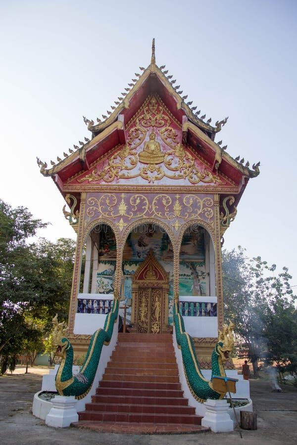 Tempel in Laos stockfotos