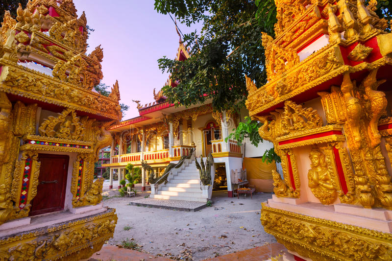 Tempel in Laos stock foto's