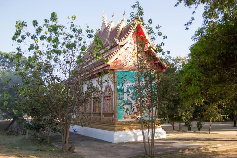 Tempel in Laos, Kunsttempel stockbild