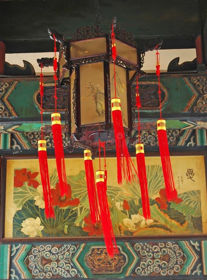 Tempel-Laternen lizenzfreies stockfoto