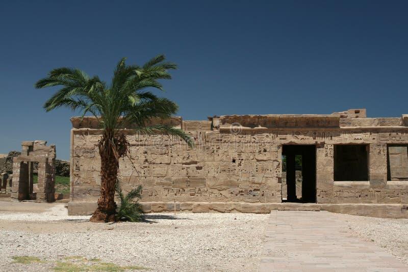 Tempel in Luxor stockbilder
