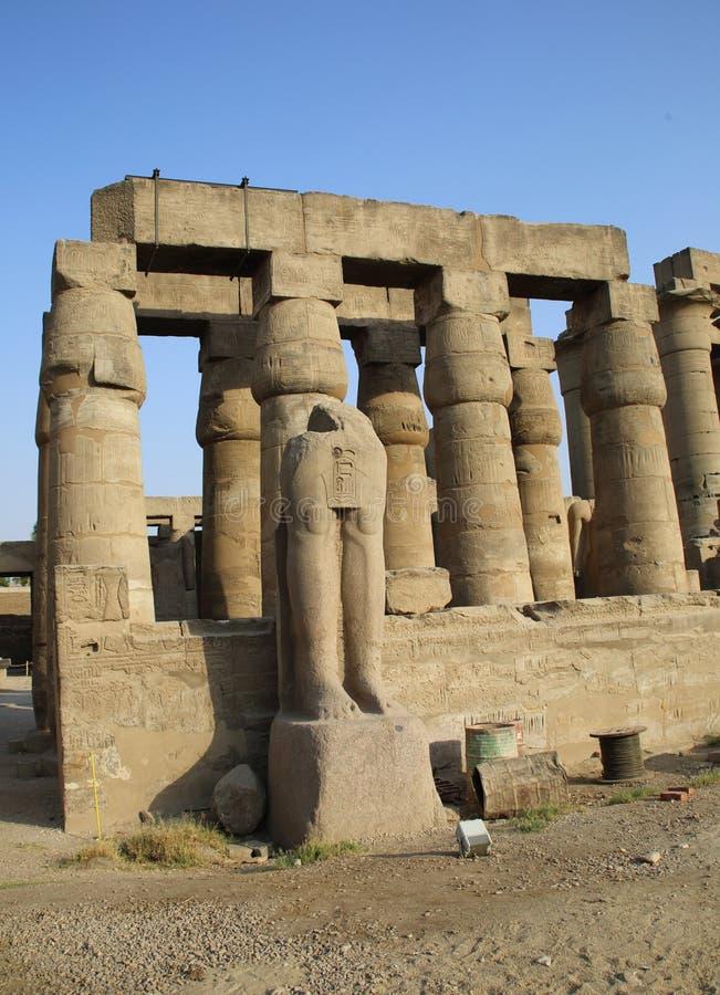 Tempel in Luxor stockfotografie