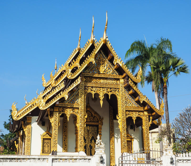 Tempel in MAI Chiang stock afbeelding