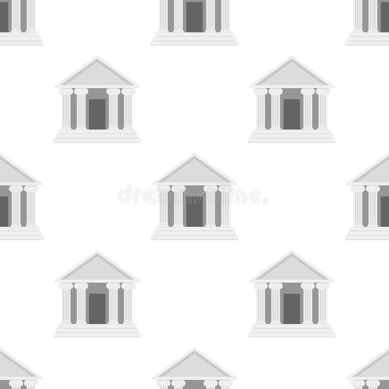 Tempel met het Naadloze Patroon van het Kolommenpictogram vector illustratie