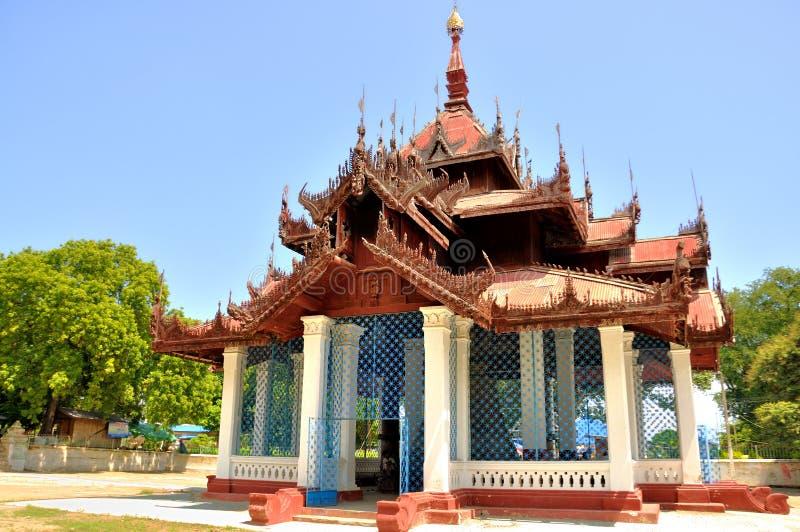 Tempel Mingun Bell stockbilder