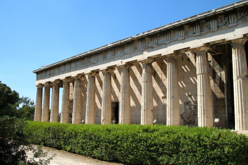 Tempel nahe Akropolise von Athen, Griechenland stockfotos