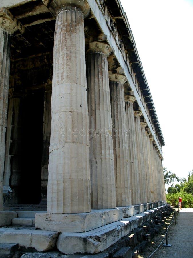 Tempel nahe Akropolise von Athen, Griechenland 2 lizenzfreie stockfotos