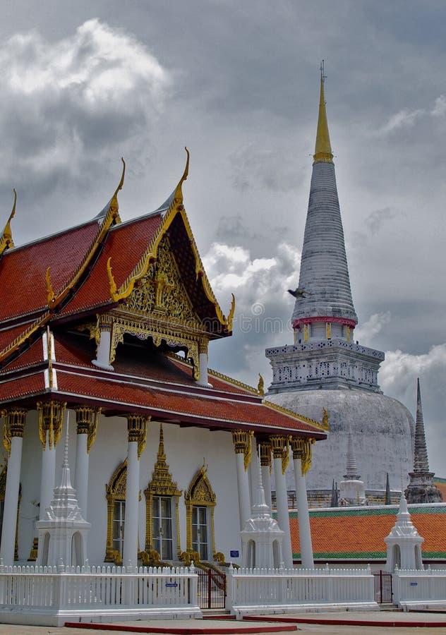 Tempel Nakorn Si Thammarat, Thailand Phra Mahathat lizenzfreies stockbild