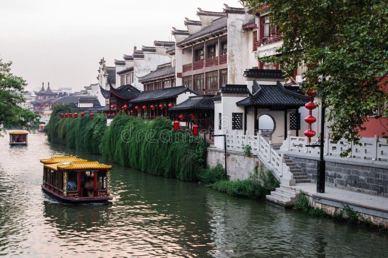 Tempel Nanjing Citys Konfuzius lizenzfreie stockbilder