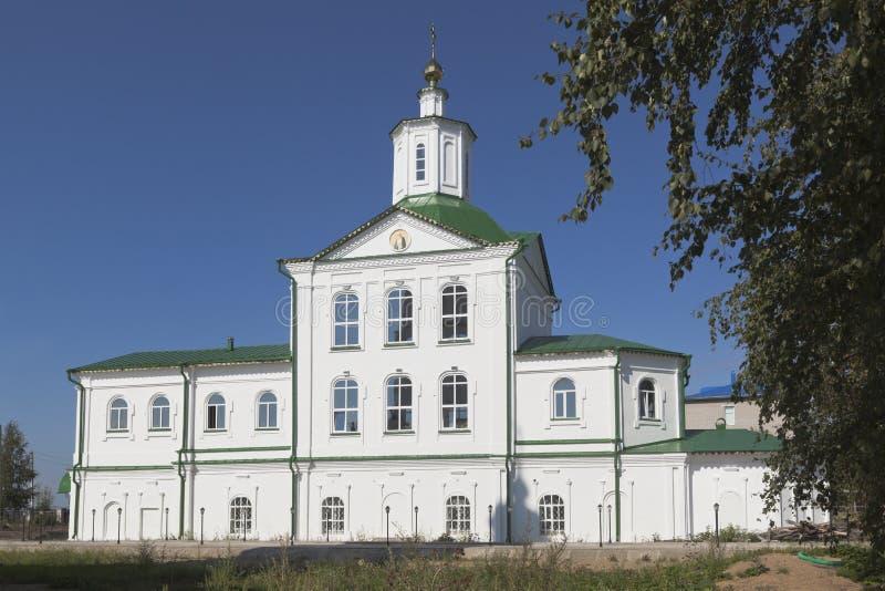 Tempel Nikolaya Chudotvortsa in der Stadt von Kotlas lizenzfreies stockfoto