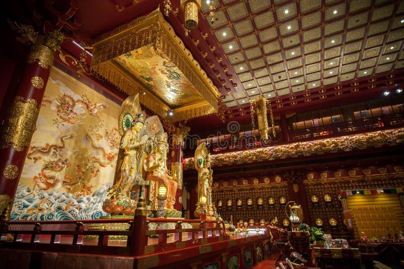 Tempel och museum för Buddhatandrelik arkivbilder