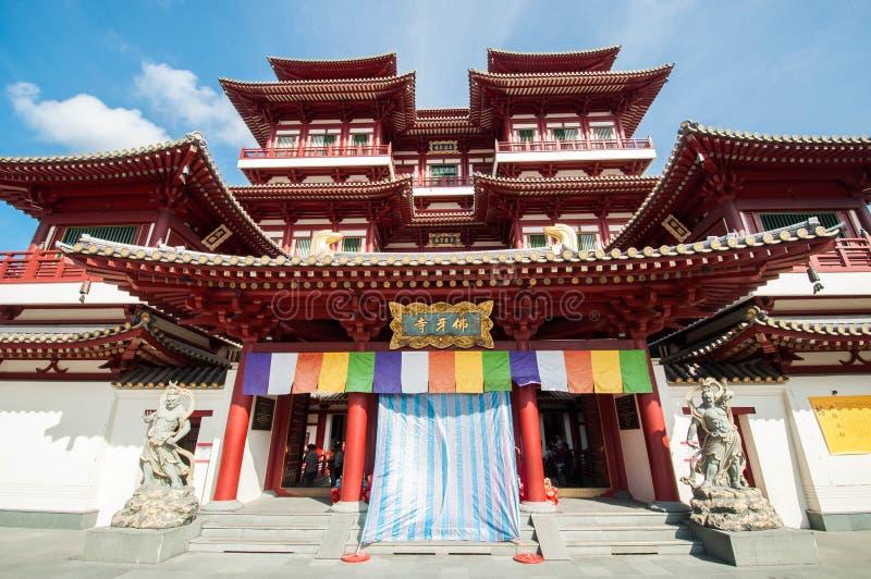 Tempel och museum för Buddhatandrelik royaltyfri fotografi