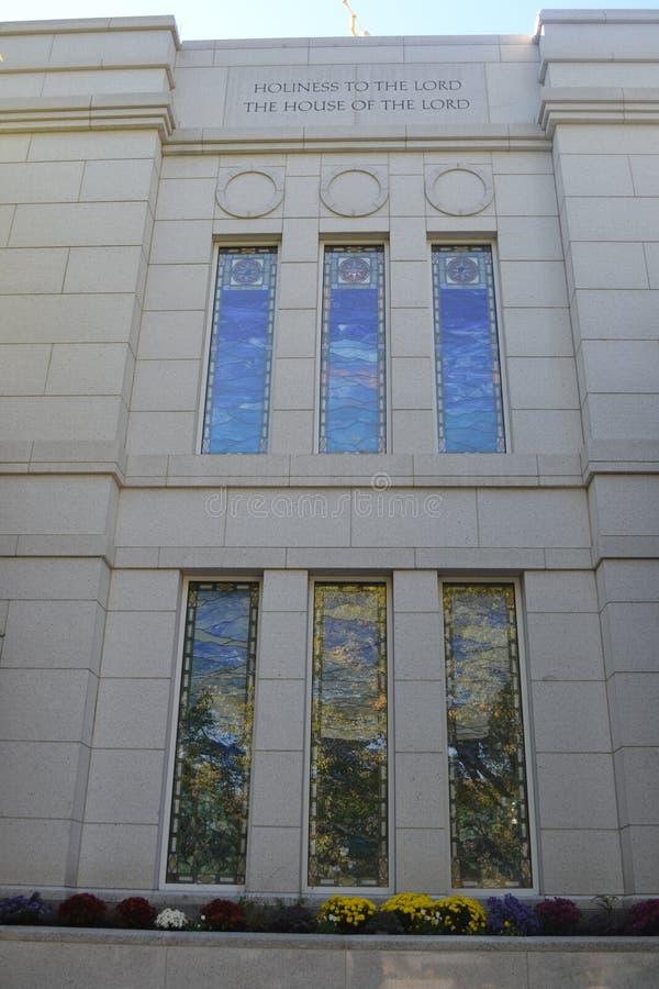 Tempel Omaha Nebraska för vinterfjärdedelar fotografering för bildbyråer