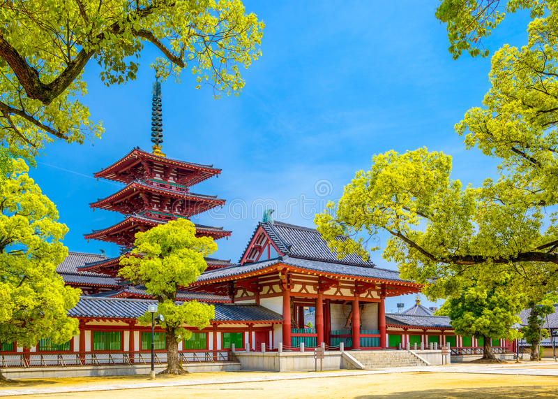 Tempel in Osaka royalty-vrije stock afbeelding