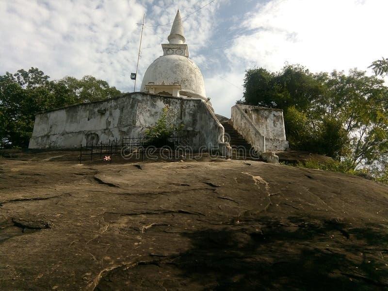 Tempel på berget arkivbild