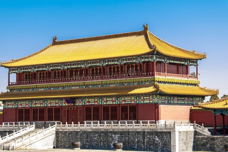 Tempel in Peking, China stock afbeeldingen