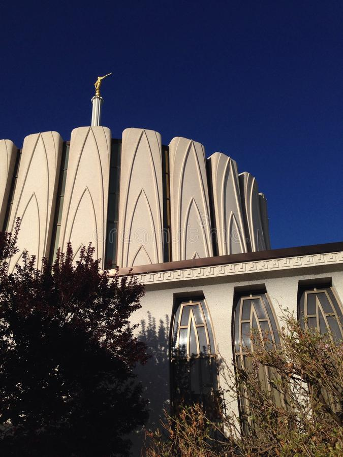 Tempel Provo Utah royalty-vrije stock fotografie