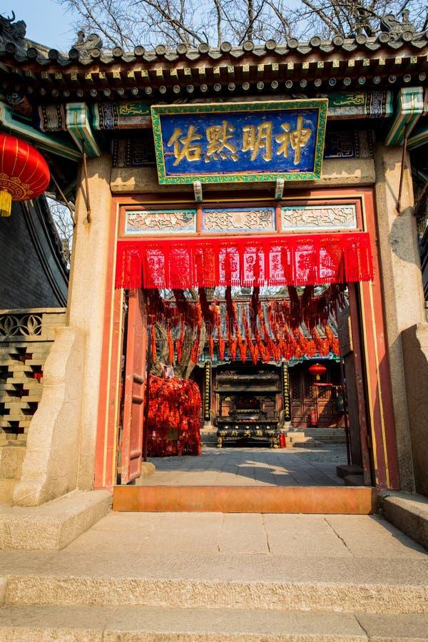 Tempel Qingdao Kina royaltyfri fotografi