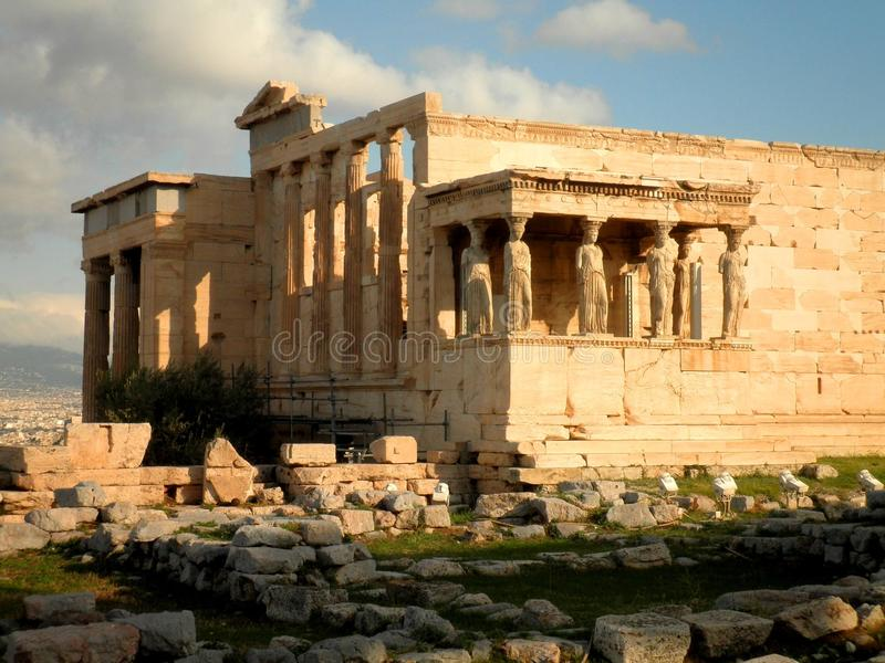 Tempel-Ruinen in Athen stockbild