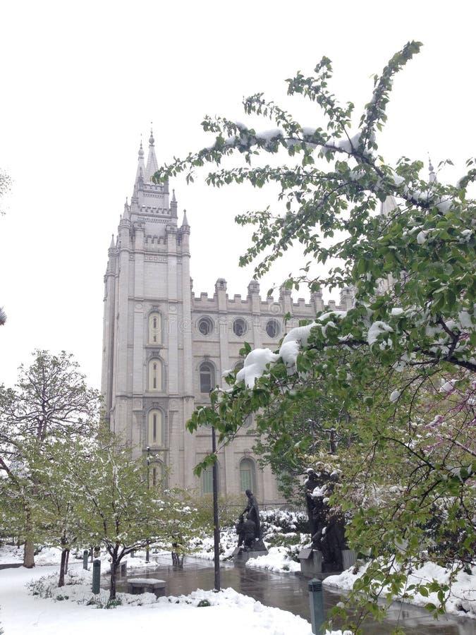 Tempel Salt Lake City Utah stock fotografie